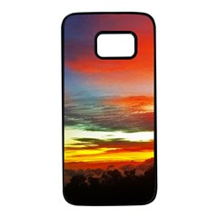 Sunset Mountain Indonesia Adventure Samsung Galaxy S7 Black Seamless Case by Celenk