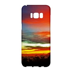 Sunset Mountain Indonesia Adventure Samsung Galaxy S8 Hardshell Case  by Celenk