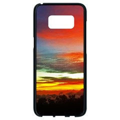 Sunset Mountain Indonesia Adventure Samsung Galaxy S8 Black Seamless Case by Celenk