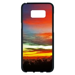 Sunset Mountain Indonesia Adventure Samsung Galaxy S8 Plus Black Seamless Case by Celenk