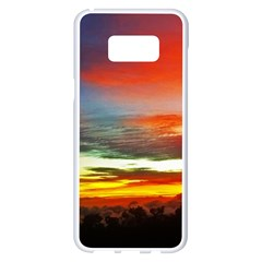 Sunset Mountain Indonesia Adventure Samsung Galaxy S8 Plus White Seamless Case by Celenk