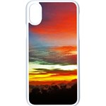 Sunset Mountain Indonesia Adventure Apple iPhone X Seamless Case (White)
