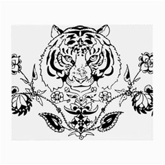 Tiger Animal Decoration Flower Small Glasses Cloth by Celenk
