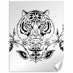 Tiger Animal Decoration Flower Canvas 12  X 16   by Celenk