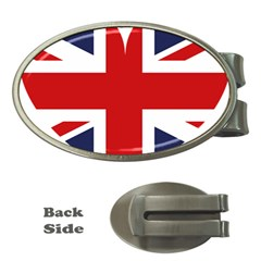 Uk Flag United Kingdom Money Clips (oval)  by Celenk