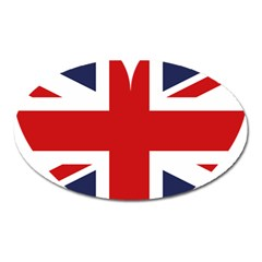 Uk Flag United Kingdom Oval Magnet by Celenk