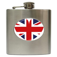 Uk Flag United Kingdom Hip Flask (6 Oz) by Celenk