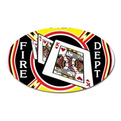 Las Vegas Fire Department Oval Magnet by teambridelasvegas
