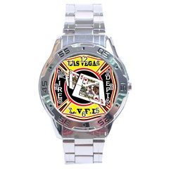Las Vegas Fire Department Stainless Steel Analogue Watch by allthingseveryday