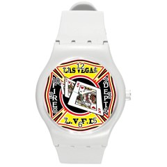 Las Vegas Fire Department Round Plastic Sport Watch (m) by allthingseveryday