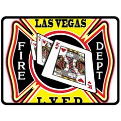 Las Vegas Fire Department Double Sided Fleece Blanket (large)  by allthingseveryday