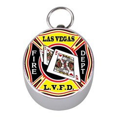 Las Vegas Fire Department Mini Silver Compasses by allthingseveryday