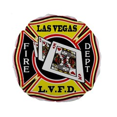 Las Vegas Fire Department Standard 15  Premium Flano Round Cushions by allthingseveryday