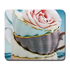 Tea Cups Large Mousepads by 8fugoso