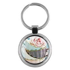 Tea Cups Key Chains (round)  by 8fugoso