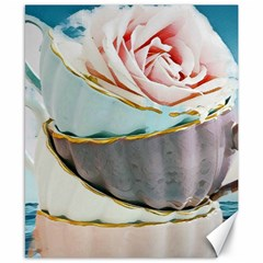 Tea Cups Canvas 8  X 10  by 8fugoso