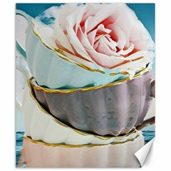 Tea Cups Canvas 20  X 24   by 8fugoso