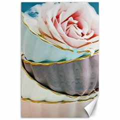 Tea Cups Canvas 24  X 36  by 8fugoso