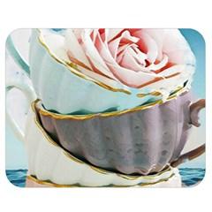 Tea Cups Double Sided Flano Blanket (medium)  by 8fugoso