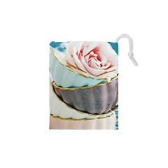 Tea Cups Drawstring Pouches (xs)  by 8fugoso