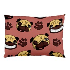Happy Pugs Pillow Case by AllThingsEveryone
