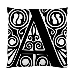 Alphabet Calligraphy Font A Letter Standard Cushion Case (two Sides) by Celenk