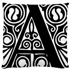 Alphabet Calligraphy Font A Letter Large Cushion Case (two Sides) by Celenk