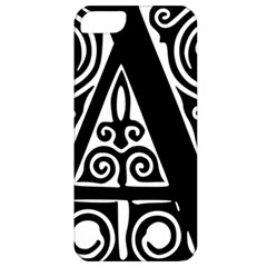 Alphabet Calligraphy Font A Letter Apple Iphone 5 Classic Hardshell Case by Celenk