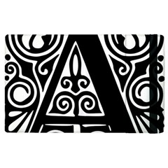 Alphabet Calligraphy Font A Letter Apple Ipad 2 Flip Case by Celenk