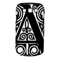 Alphabet Calligraphy Font A Letter Samsung Galaxy S Iii Classic Hardshell Case (pc+silicone) by Celenk