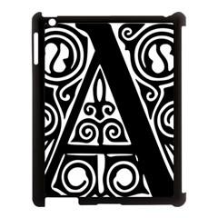 Alphabet Calligraphy Font A Letter Apple Ipad 3/4 Case (black) by Celenk