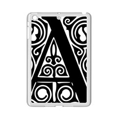 Alphabet Calligraphy Font A Letter Ipad Mini 2 Enamel Coated Cases by Celenk