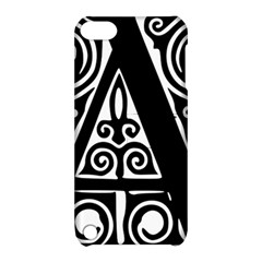 Alphabet Calligraphy Font A Letter Apple Ipod Touch 5 Hardshell Case With Stand by Celenk
