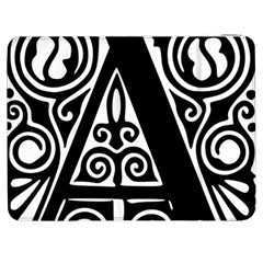 Alphabet Calligraphy Font A Letter Samsung Galaxy Tab 7  P1000 Flip Case by Celenk