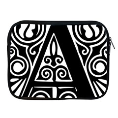 Alphabet Calligraphy Font A Letter Apple Ipad 2/3/4 Zipper Cases by Celenk