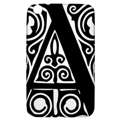 Alphabet Calligraphy Font A Letter Samsung Galaxy Tab 3 (8 ) T3100 Hardshell Case  by Celenk