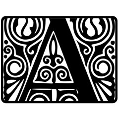 Alphabet Calligraphy Font A Letter Double Sided Fleece Blanket (large)  by Celenk