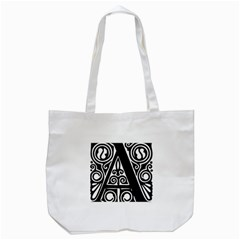 Alphabet Calligraphy Font A Letter Tote Bag (white) by Celenk