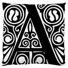 Alphabet Calligraphy Font A Letter Large Flano Cushion Case (one Side) by Celenk