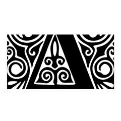 Alphabet Calligraphy Font A Letter Satin Wrap by Celenk