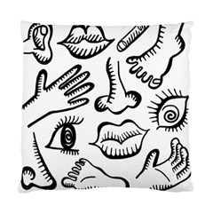 Anatomy Icons Shapes Ear Lips Standard Cushion Case (two Sides) by Celenk