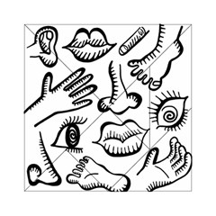 Anatomy Icons Shapes Ear Lips Acrylic Tangram Puzzle (6  X 6 ) by Celenk