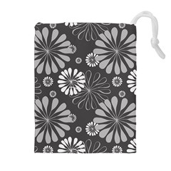 Floral Pattern Floral Background Drawstring Pouches (extra Large) by Celenk