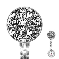 Seamless Tile Background Abstract Stainless Steel Nurses Watch by Celenk
