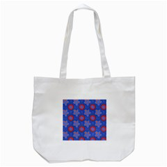 Seamless Tile Repeat Pattern Tote Bag (white)