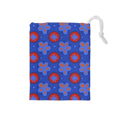 Seamless Tile Repeat Pattern Drawstring Pouches (medium)  by Celenk