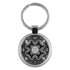 Mandala Calming Coloring Page Key Chains (round)  by Celenk