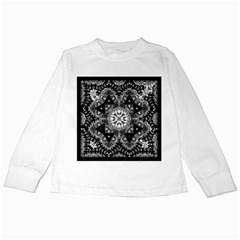 Mandala Calming Coloring Page Kids Long Sleeve T Shirts by Celenk