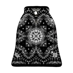Mandala Calming Coloring Page Bell Ornament (two Sides)