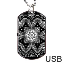 Mandala Calming Coloring Page Dog Tag Usb Flash (two Sides) by Celenk